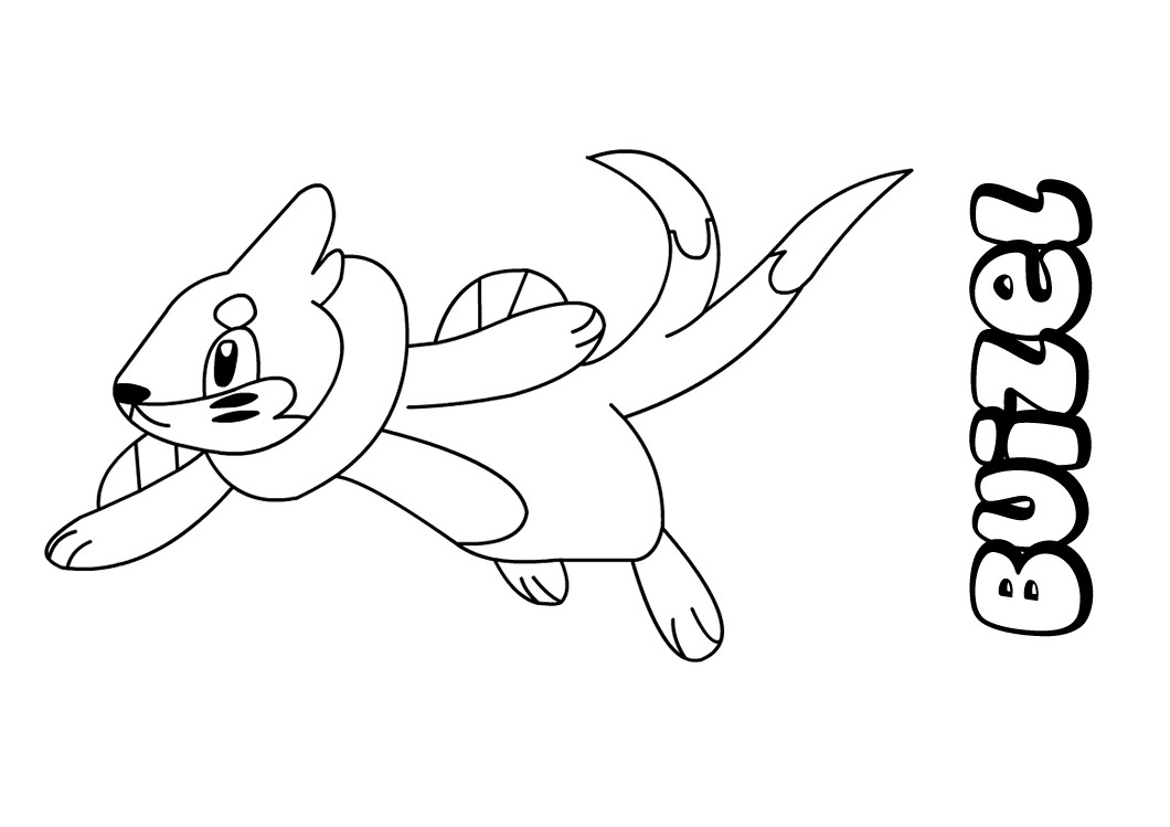 buizel coloring pages - the gallery for slowking mega evolution