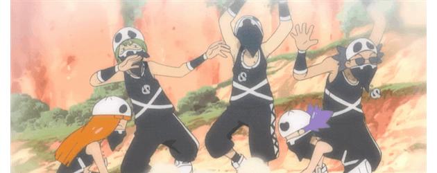 צוות גולגולת רוקדים לקולות הסקסופון!